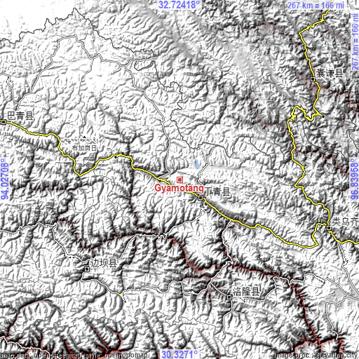 Topographic map of Gyamotang