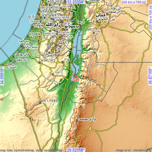Topographic map of Safi